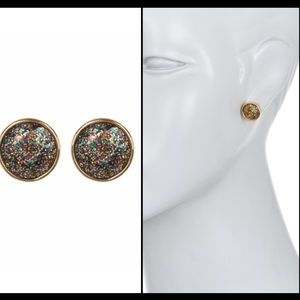 Kate Spade Gumdrop Glitter Accent Earrings
